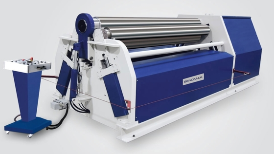 Cina Digital 4 Rolls Hydraulic Bending Machine Dengan Panel Kontrol Portable CY4R-HS pemasok